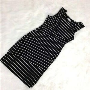 Calvin Klein Striped Tiered Sleeveless Mini Dress